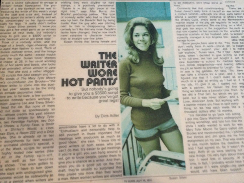 The Writer Wore Hotpants, An interview with Susan Silver, TV Guide